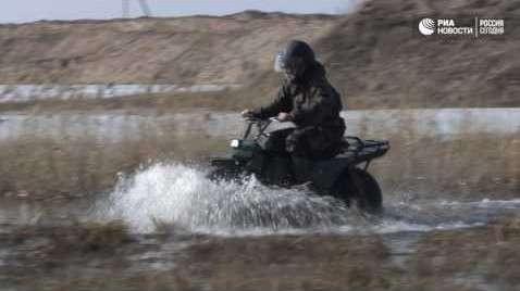 В Калужской области прошли испытания двухколесного мотоцикла-внедорожника