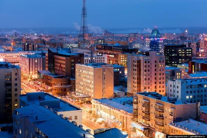 Красоты Якутска свысоты птичьего полёта. Один из самых «холодных» городов Земли.