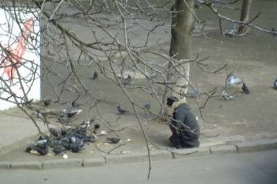 «Рошеновская диета»: в Одессе голодная женщина отбирала хлеб у голубей
