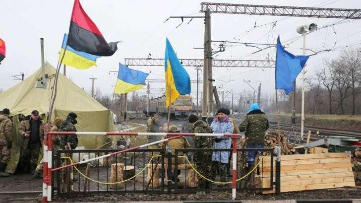 Украина: еврейская хунта ввела полную транспортную блокаду ДНР и ЛНР