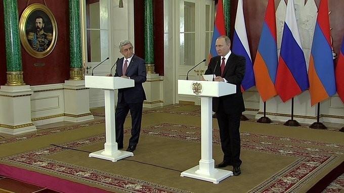 Заявления Владимира Путина и Сержа Саргсяна поокончании российско-армянских переговоров