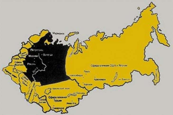 Россия была разделена западными «союзниками» ещё в декабре 1917 года