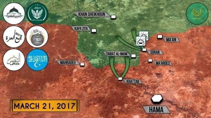 Сирия: мощнейшее контрнаступление американских наёмников под Хамой. Захвачен город
