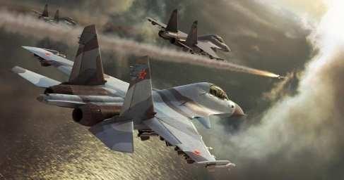 Сирия, Хама: атаки Су-25 и Су-30 ВКС России по наступающему противнику