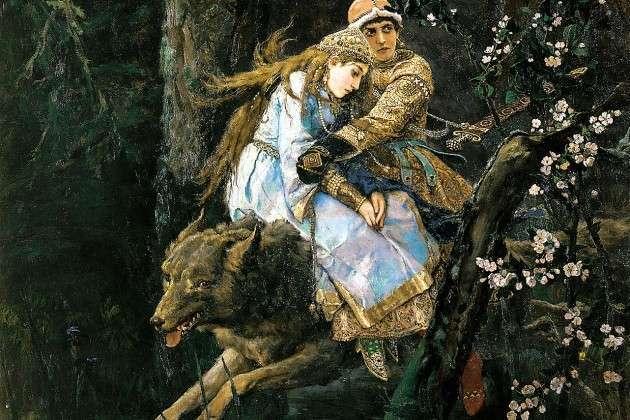 Виктор Васнецов. Иван-Царевич на Сером Волке (фрагмент). 1889