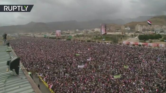 В Йемене происходит многотысячный протест против ударов коалиции во главе с Саудовской Аравией
