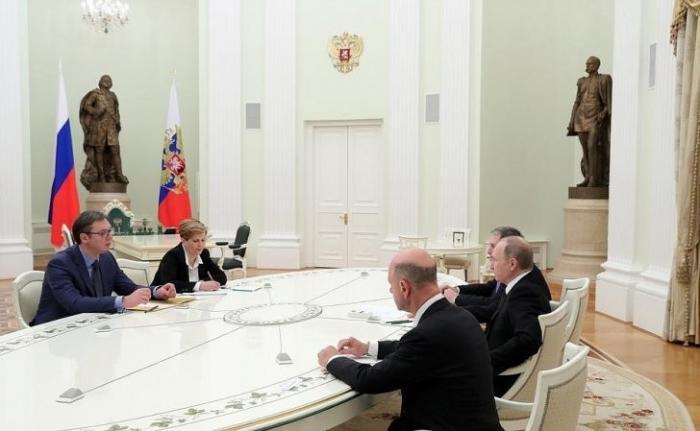 Владимир Путин провёл встречу сПремьер-министром Сербии Александром Вучичем