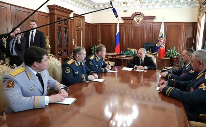 Владимир Путин провёл встречу с руководством Национальной гвардии