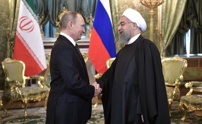 Встреча Владимира Путина сПрезидентом Ирана Хасаном Рухани