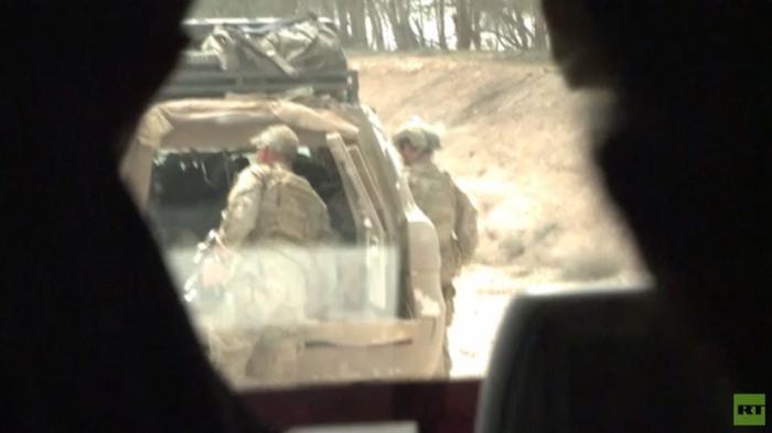 Американские военные в Сирии, находящиеся практически на передовой, попали в объектив RT