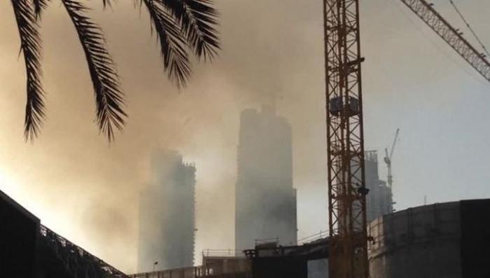 В Дубае дотла сгорел строящийся небоскрёб