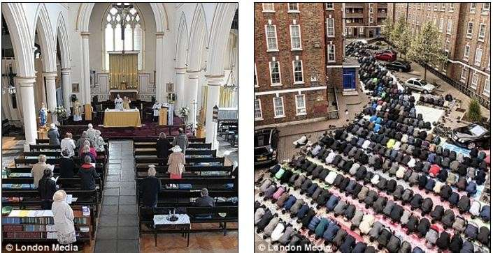 Британия переходит в ислам: только в Лондоне 423 новых мечетей открыто, 500 церквей уничтожено
