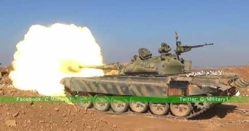Сирия: Т-72 точным огнем уничтожает американских наёмников в Хаме