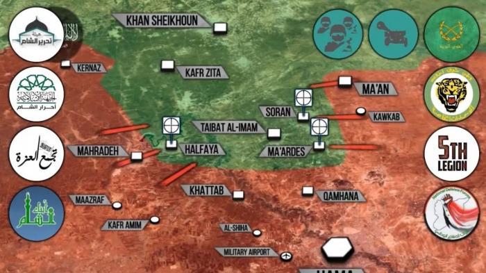 Сирия, Хама: правительственные войска возвращают территории