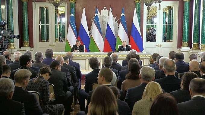 Заявления для прессы поитогам российско-узбекистанских переговоров
