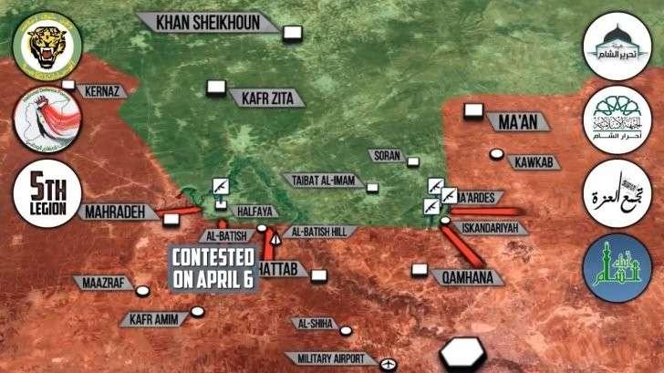 Сирия: обстановка на фронтах до ракетного удара США. Химическая атака