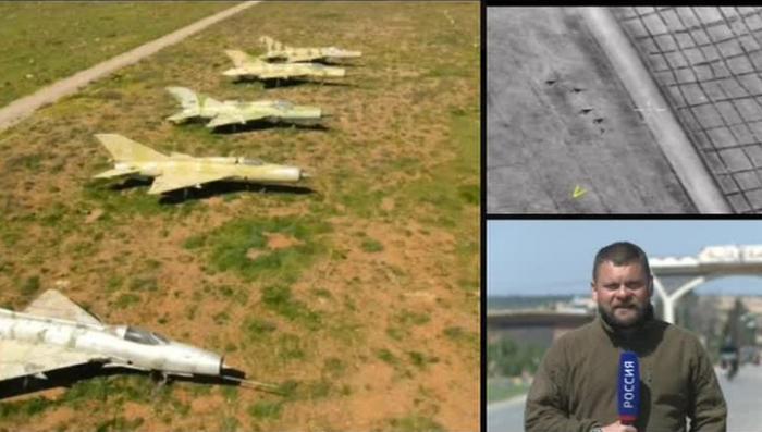 Ракетный удар американских бандитов по авиабазе Шайрат. Эксклюзивные кадры с места событий