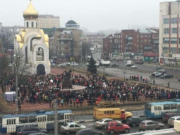 Иваново: «Вместе против террора» люди вышли поддержать Петербург