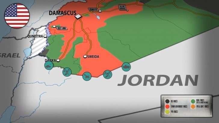 Война: США к границам Сирии стягивают технику со стороны Иордании