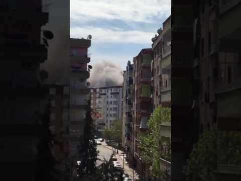 Турция: произошел мощный взрыв в городе Диярбакыр