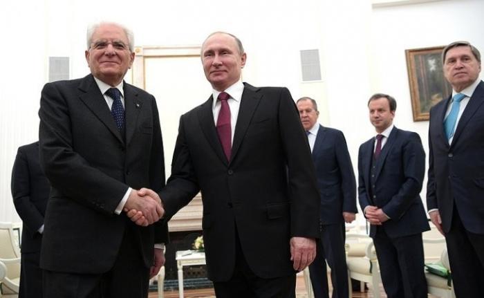 Владимир Путин встретился с Президентом Италии Серджо Маттареллой