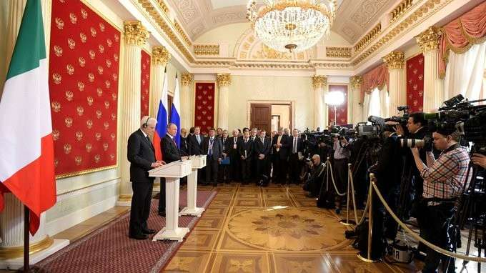 Заявления для прессы поитогам встречи сПрезидентом Италии Серджо Маттареллой