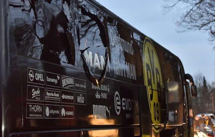 Взрыв произошел рядом с автобусом футбольного клуба