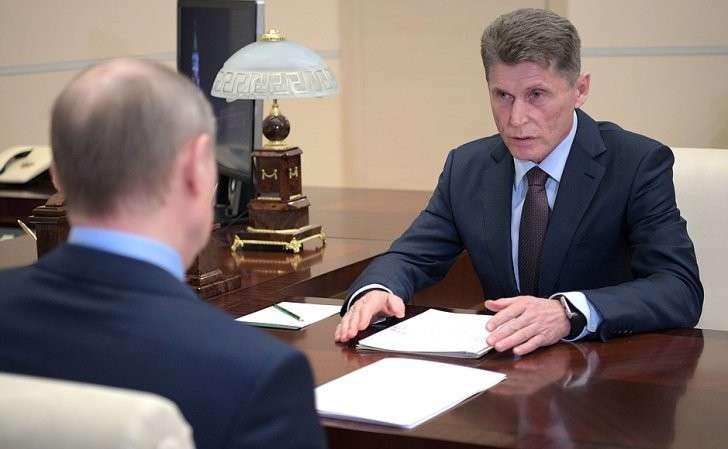 Владимир Путин провёл рабочую встречу сгубернатором Сахалинской области Олегом Кожемяко