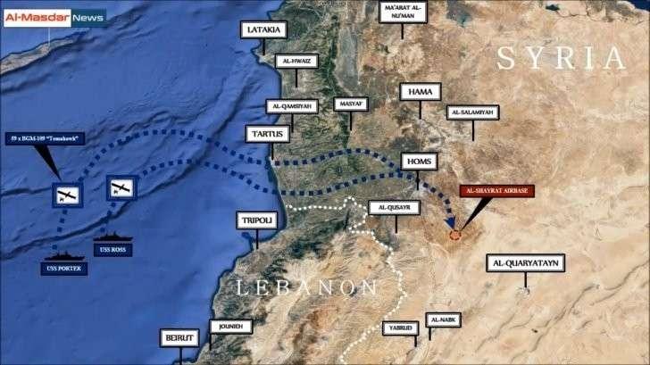 Ракетный удар США по сирийской авиабазе Шайрат. Реконструкция конфликта США против России