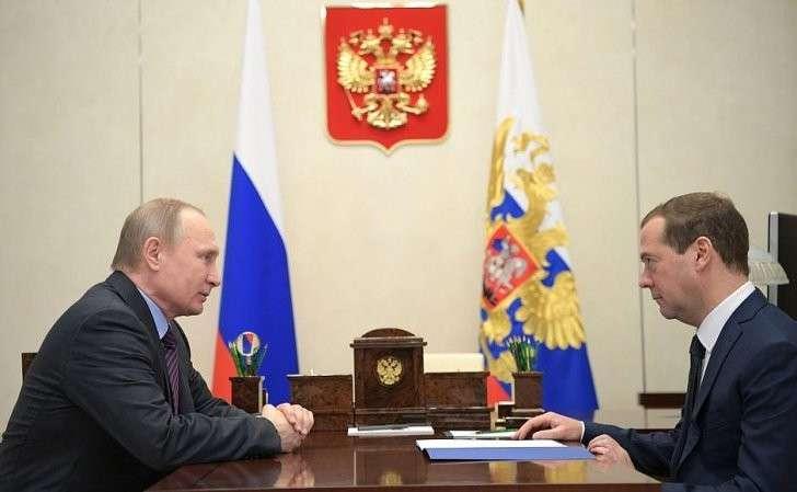 Рабочая встреча сПредседателем Правительства Дмитрием Медведевым.