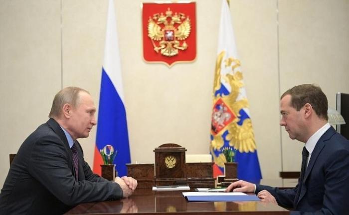 Рабочая встреча Президента сПредседателем Правительства Дмитрием Медведевым