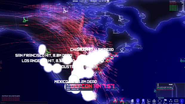 Северная Корея нанесла ядерный удар по США, виртуально