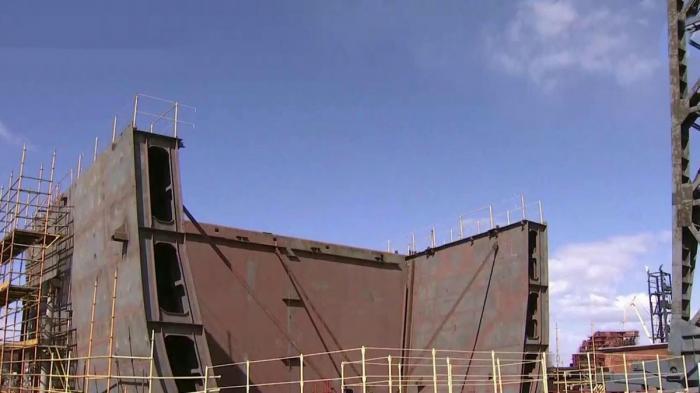 В Санкт-Петербурге заложили уникальный военный ледокол не имеющий аналогов в мире