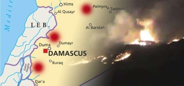 Террористический Израиль атаковал позиции сирийской армии