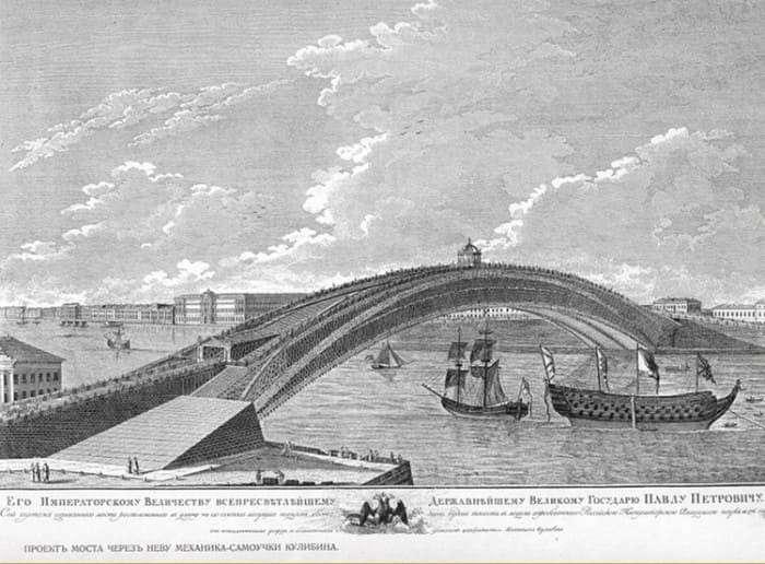 Проект одноарочного моста через Неву | Фото: top-antropos.com