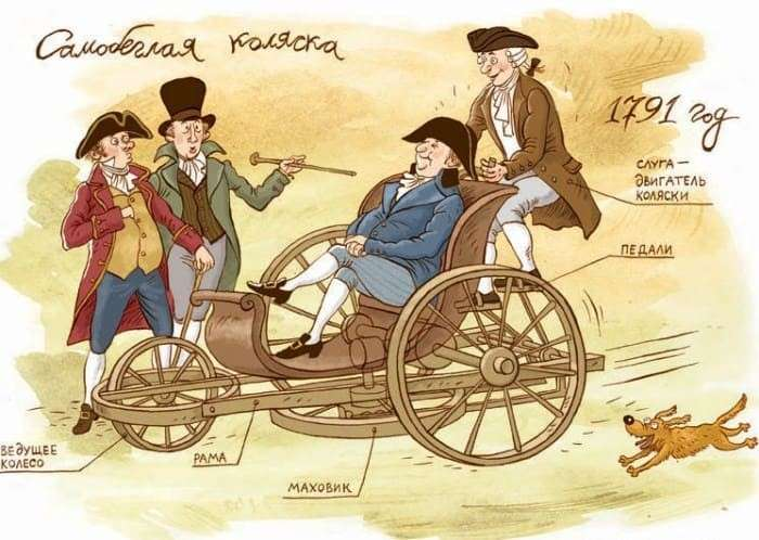 Модель *самобеглой коляски* Кулибина   Фото: labirint.ru