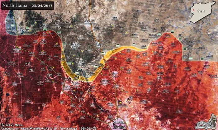 Сирия, Хама: правительственные войска освободили ключевой город и рвутся вперёд