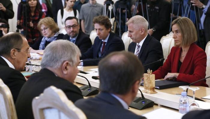 Сергей Лавров и Могерини начали переговоры с темы общепланетарной угрозы