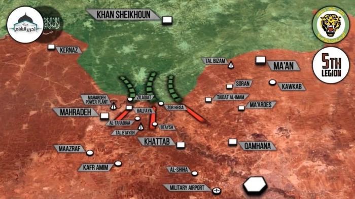 Сирия, Хама: правительственные силы успешно наступают, возможна контратака противника