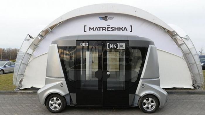Во Владивостоке запустят первый отечественный беспилотный автобус «MatrЁshka»