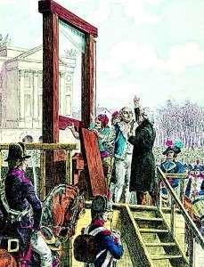 Казнь Людовика XVI на гильотине