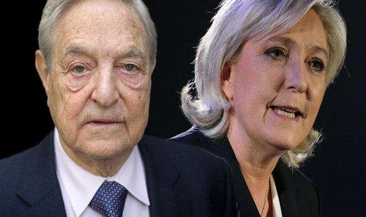 Выборы во Франции: чёрные технологии фашистского еврея Сороса против Марин Ле Пен