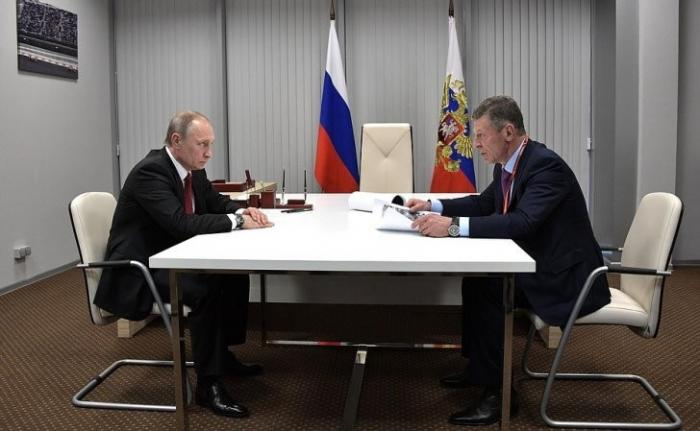 Владимир Путин провёл рабочую встречу свице-премьером Дмитрием Козаком