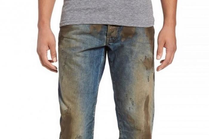 Буржуины бесятся с жиру: джинсы с грязными пятнами за 425$