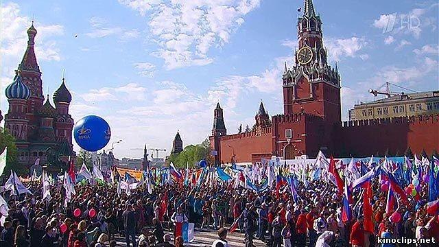 Первомайская демонстрация в зелёных мечтах либеральных недоумков