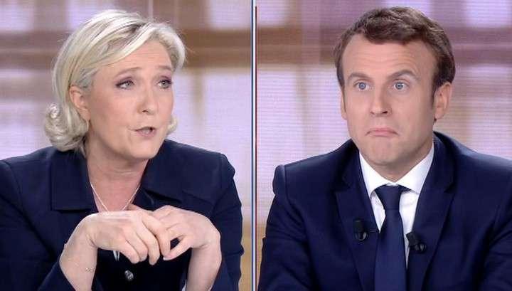 Марин Ле Пен против Эммануэля Макрона: начались теледебаты взаимных обвинений