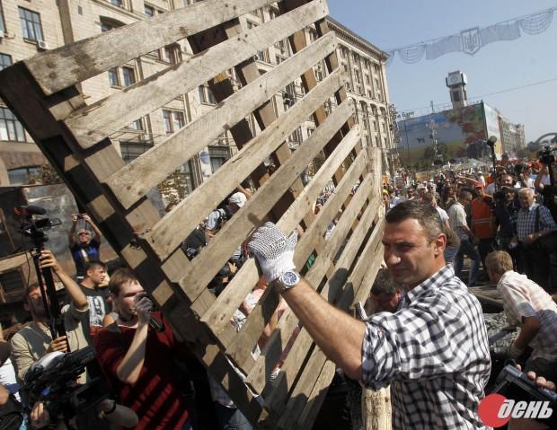 Киевский майдан очистили от бомжей и всякого сброда