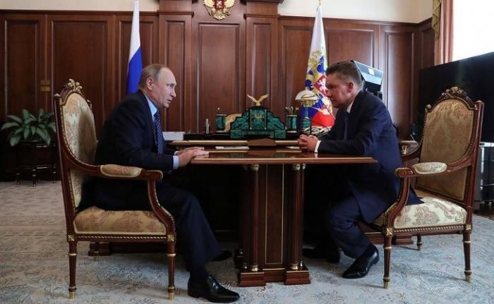 Владимир Путин провёл рабочую встречу с главой «Газпрома» Алексеем Миллером