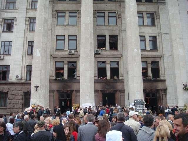 Поминальный митинг в Одессе. 10 мая 2014