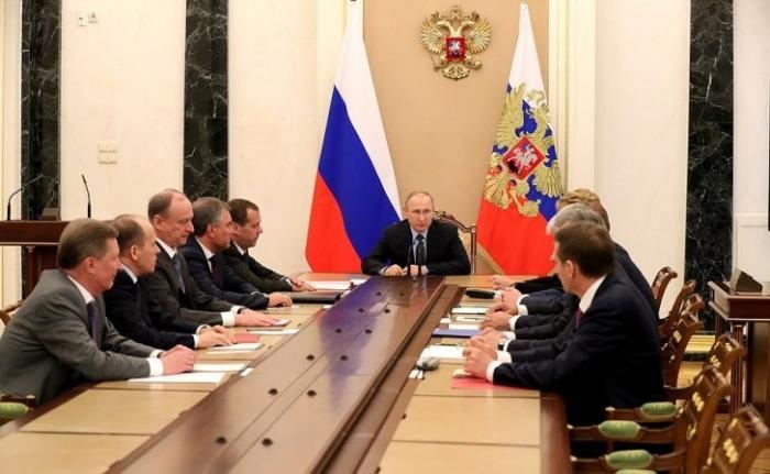 Совещание Владимира Путина спостоянными членами Совета Безопасности